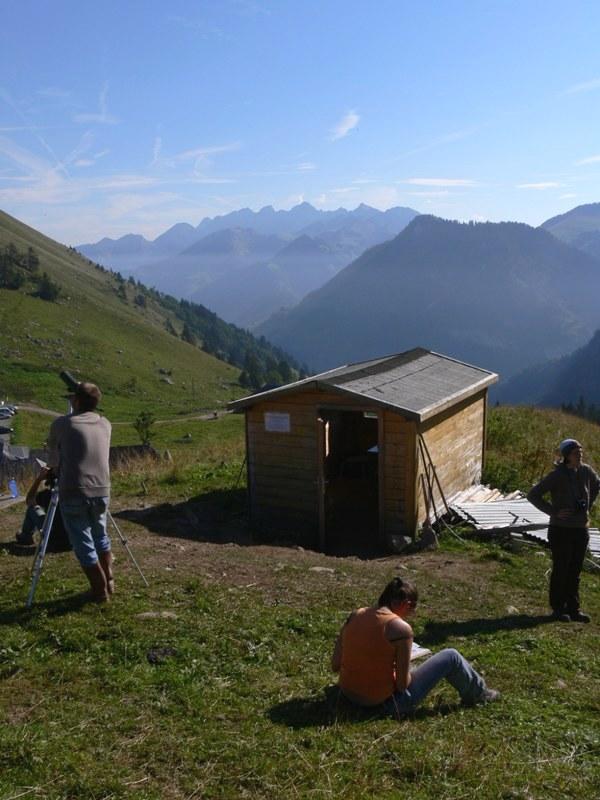 Ornitologická stanice v Col de Jaman. Foto - Jan Bartoníček