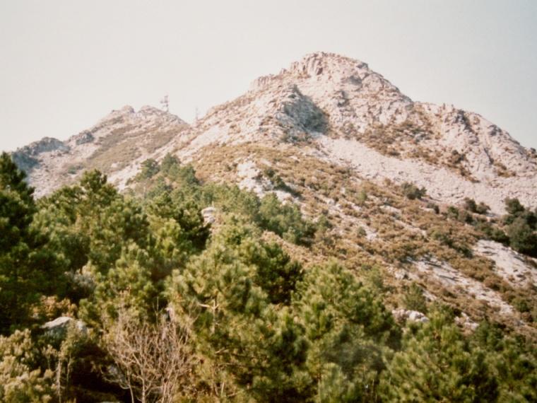 Elba - nejvyšší vrch Monte Capanne. Foto - Jiří Mach.