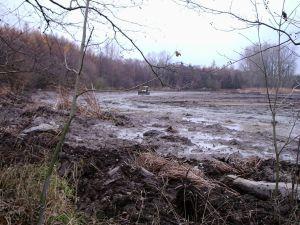 Holský rybník po nešetrném odbahnění. Foto V. Šoltys